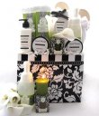 Floral Brocade Spa Gift Basket